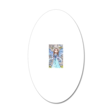 Blue Fairy 20x12 Oval Wall Decal