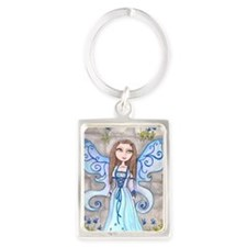 Blue Fairy Portrait Keychain