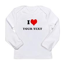 Personalized I heart Long Sleeve T-Shirt