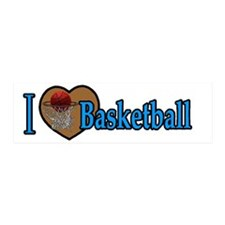 I love Basketball Wall Decal