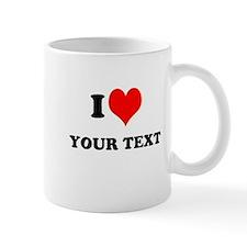 Personalized I heart Mugs