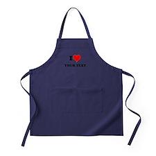 Personalized I heart Apron (dark)