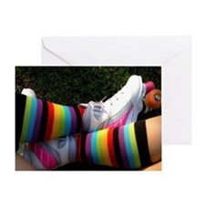 Rainbow Roller Skater Greeting Card