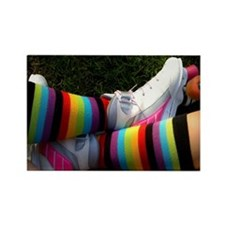 Rainbow Roller Skater Rectangle Magnet