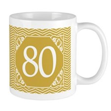 80th Birthday (Chevron) Mug