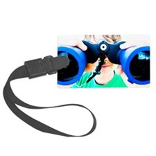 Blue Binocular Boy Luggage Tag