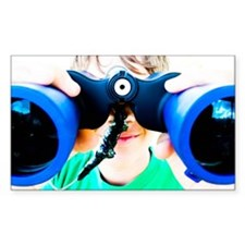 Blue Binocular Boy Decal