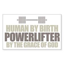 POWERLIFTER BY GRACE Sticker (Rect.)