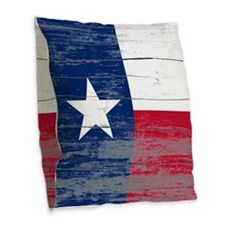 Texas Old Paint Burlap Throw Pillow