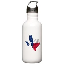 Texas Shape Flag Distressed Water Bottle