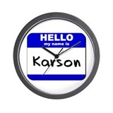 hello my name is karson  Wall Clock
