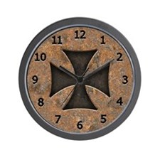 Rusty Maltese Wall Clock