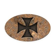 Rusty Maltese Oval Car Magnet
