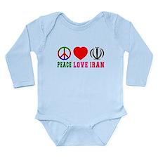 Peace Love Iran Long Sleeve Infant Bodysuit