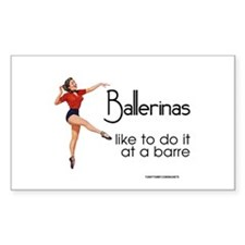 Ballerinas Sticker (rectangle)