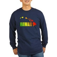 Hawaiian Islands Long Sleeve T-Shirt