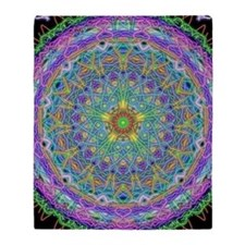 Inner Peace Mandala Throw Blanket