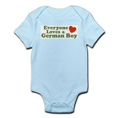 Everyone Loves a German Boy Infant Bodysuit