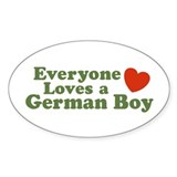Everyone Loves a German Boy Oval Decal