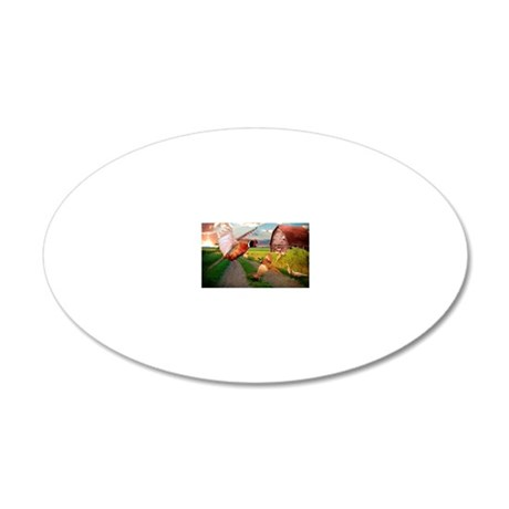Spooked 20x12 Oval Wall Decal