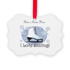 I Love Skating! Personalize Ornament