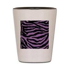 Lavender Zebra Shot Glass