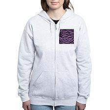 Lavender Zebra Zip Hoodie
