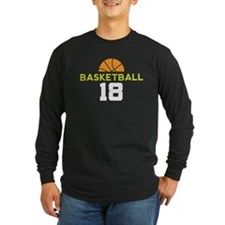 Basketball Player Number 18 Long Sleeve T-Shirt