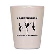 Pole Fitness Beauty Strength Pride Black Shot Glas