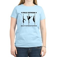 Pole Fitness Beauty Strength Pride Black T-Shirt