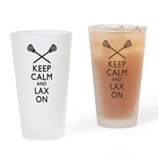 Keep Calm And Lax On Drinking Glass