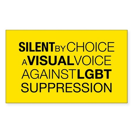 Silent By Choice Rectangle Sticker
