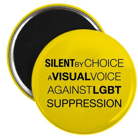 "Silent By Choice 2.25"" Magnet (10 pack)"