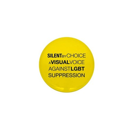 Silent By Choice Mini Button