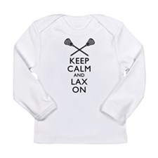 Keep Calm And Lax On Long Sleeve Infant T-Shirt