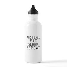 Football Eat Sleep Repeat Water Bottle