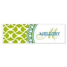 Stylish Custom Monogram Bumper Sticker
