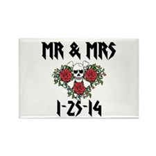 10 Mr Mrs Personalized Dates Magnets