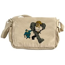 Police Arresting Criminal Cartoon Messenger Bag