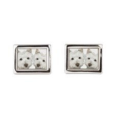 Two Cute West Highland White Dogs Cufflinks