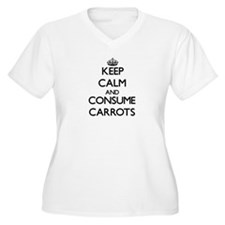 Keep calm and consume Carrots Plus Size T-Shirt