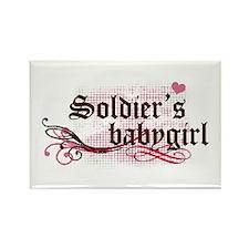 Soldier's Babygirl Rectangle Magnet