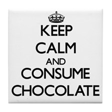 Keep calm and consume Chocolate Tile Coaster