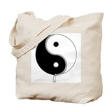 Yin Yang Zipper Tote Bag