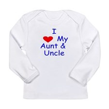 I love my aunt uncle blue Long Sleeve T-Shirt