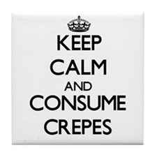 Keep calm and consume Crepes Tile Coaster