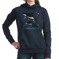 Personalized Killer Whale Hooded Sweatshirt