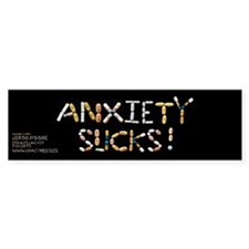 Anxiety Sucks! Bumper Bumper Sticker