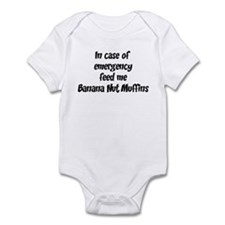 Feed me Banana Nut Muffins Infant Bodysuit
