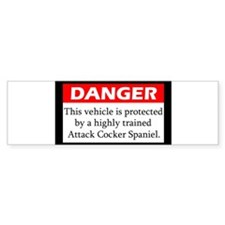 attackdog_cockerspaniel Bumper Car Sticker